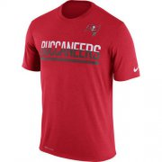 Wholesale Cheap Men's Tampa Bay Buccaneers Nike Practice Legend Performance T-Shirt Red