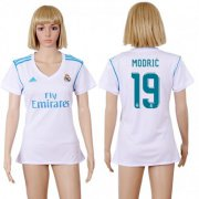 Wholesale Cheap Women's Real Madrid #19 Modric Home Soccer Club Jersey