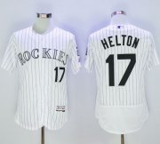 Wholesale Cheap Rockies #17 Todd Helton White Strip Flexbase Authentic Collection Stitched MLB Jersey