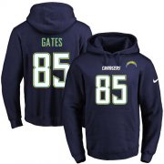 Wholesale Cheap Nike Chargers #85 Antonio Gates Navy Blue Name & Number Pullover NFL Hoodie
