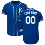 Wholesale Cheap Kansas City Royals Majestic Alternate Authentic Collection Flex Base Custom Jersey Royal