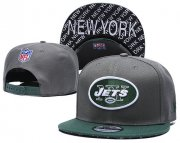 Wholesale Cheap Jets Team Logo Gray Green Adjustable Hat TX