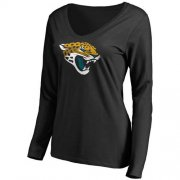 Wholesale Cheap Women's Jacksonville Jaguars Pro Line Primary Team Logo Slim Fit Long Sleeve T-Shirt Black