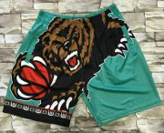 Wholesale Cheap Men's Memphis Grizzlies Light Blue Big Face Mitchell Ness Hardwood Classics Soul Swingman Throwback Shorts