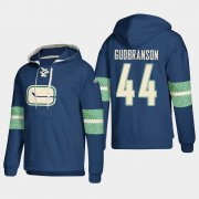 Wholesale Cheap Vancouver Canucks #44 Erik Gudbranson Blue adidas Lace-Up Pullover Hoodie