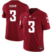 Wholesale Cheap Washington State Cougars 3 Daniel Isom Red College Football Jersey