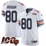 Wholesale Cheap Nike Bears #80 Jimmy Graham White Alternate Men's Stitched NFL Vapor Untouchable Limited 100th Season Jersey