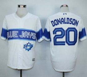 Wholesale Cheap Blue Jays #20 Josh Donaldson White Exclusive New Cool Base Stitched MLB Jersey