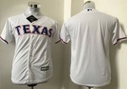 Wholesale Cheap Rangers Blank White Cool Base Stitched Youth MLB Jersey