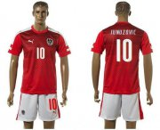 Wholesale Cheap Austria #10 Junuzovic Red Home Soccer Country Jersey