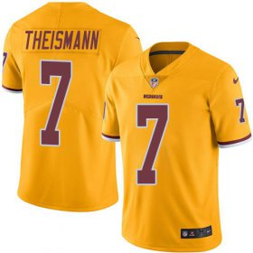 Wholesale Cheap Nike Redskins #7 Joe Theismann Gold Men\'s Stitched NFL Limited Rush Jersey