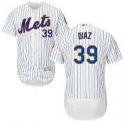 Wholesale Cheap Mets #39 Edwin Diaz White(Blue Strip) Flexbase Authentic Collection Stitched MLB Jersey