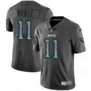 Wholesale Cheap Nike Eagles #11 Carson Wentz Gray Static Men's Stitched NFL Vapor Untouchable Limited Jersey
