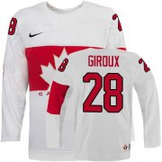 Wholesale Cheap Olympic 2014 CA. #28 Claude Giroux White Stitched NHL Jersey