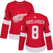 Wholesale Cheap Adidas Red Wings #8 Justin Abdelkader Red Home Authentic Women's Stitched NHL Jersey