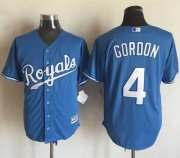 Wholesale Cheap Royals #4 Alex Gordon Light Blue Alternate 1 New Cool Base Stitched MLB Jersey