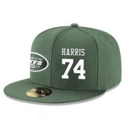 Wholesale Cheap New York Jets #74 Nick Mangold Snapback Cap NFL Player Green with White Number Stitched Hat