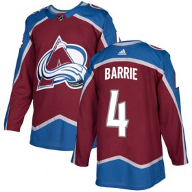 Wholesale Cheap Adidas Avalanche #4 Tyson Barrie Burgundy Home Authentic Stitched Youth NHL Jersey