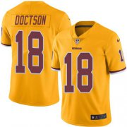 Wholesale Cheap Nike Redskins #18 Josh Doctson Gold Men's Stitched NFL Limited Rush Jersey