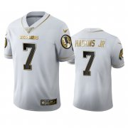 Wholesale Cheap Washington Redskins #7 Dwayne Haskins Jr Men's Nike White Golden Edition Vapor Limited NFL 100 Jersey