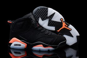 Wholesale Cheap Womens Air Jordan 6 infrared 2014 Black/red