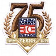 Wholesale Cheap Stitched 2014 National MLB Hall Of Fame 75th Anniversary Jersey Patch