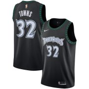 Wholesale Cheap Men's Minnesota Timberwolves #32 Karl-Anthony Towns Black Hardwood Classics Swingman Nike Jersey