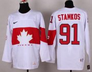 Wholesale Cheap Olympic 2014 CA. #91 Steven Stamkos White Stitched NHL Jersey