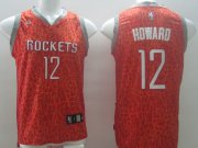 Wholesale Cheap Houston Rockets #12 Dwight Howard Red Leopard Print Fashion Jersey