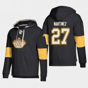 Wholesale Cheap Los Angeles Kings #27 Alec Martinez Black adidas Lace-Up Pullover Hoodie
