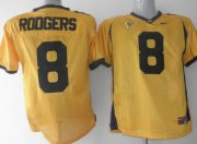 Wholesale Cheap California Golden Bears #8 Rodgers Yellow Jersey