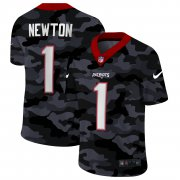 Cheap New England Patriots #1 Cam Newton Men's Nike 2020 Black CAMO Vapor Untouchable Limited Stitched NFL Jersey