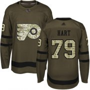 Wholesale Cheap Adidas Flyers #79 Carter Hart Green Salute to Service Stitched Youth NHL Jersey