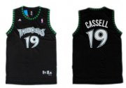 Wholesale Cheap Minnesota Timberwolves #19 Sam Cassell Black Swingman Jersey