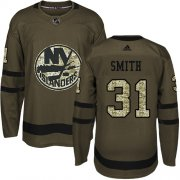 Wholesale Cheap Adidas Islanders #31 Billy Smith Green Salute to Service Stitched NHL Jersey