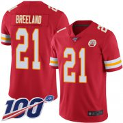 Wholesale Cheap Nike Chiefs #21 Bashaud Breeland Red Team Color Men's Stitched NFL 100th Season Vapor Limited Jersey