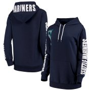 Wholesale Cheap Seattle Mariners G-III 4Her by Carl Banks Women's 12th Inning Pullover Hoodie Navy