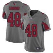 Wholesale Cheap Nike Cardinals #48 Isaiah Simmons Silver Men's Stitched NFL Limited Inverted Legend Jersey