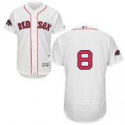 Wholesale Cheap Red Sox #8 Carl Yastrzemski White Flexbase Authentic Collection 2018 World Series Stitched MLB Jersey