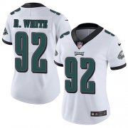 Wholesale Cheap Nike Eagles #92 Reggie White White Women's Stitched NFL Vapor Untouchable Limited Jersey