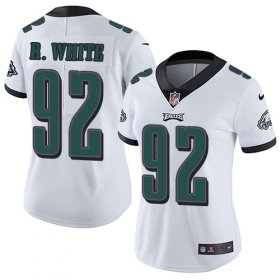 Wholesale Cheap Nike Eagles #92 Reggie White White Women\'s Stitched NFL Vapor Untouchable Limited Jersey