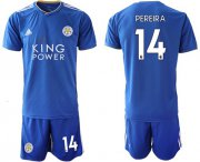 Wholesale Cheap Leicester City #14 Pereira Home Soccer Club Jersey