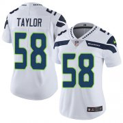 Wholesale Cheap Nike Seahawks #58 Darrell Taylor White Women's Stitched NFL Vapor Untouchable Limited Jersey