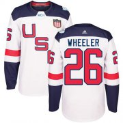 Wholesale Cheap Team USA #26 Blake Wheeler White 2016 World Cup Stitched Youth NHL Jersey