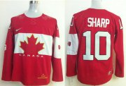 Wholesale Cheap Olympic 2014 CA. #10 Patrick Sharp Red Stitched NHL Jersey