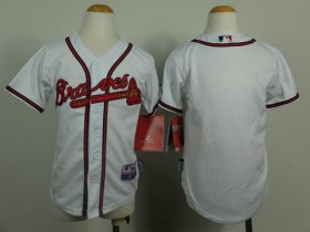 Wholesale Cheap Braves Blank White Cool Base Stitched Youth MLB Jersey