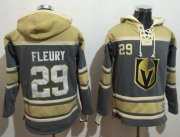 Wholesale Cheap Golden Knights #29 Marc-Andre Fleury Grey Sawyer Hooded NHL Sweatshirt