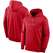 Wholesale Cheap Cincinnati Reds Nike Outline Wordmark Fleece Performance Pullover Hoodie Red