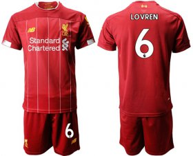 Wholesale Cheap Liverpool #6 Lovren Red Home Soccer Club Jersey
