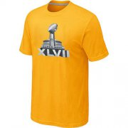 Wholesale Cheap NFL Super Bowl XLVII Logo T-Shirt Yellow
